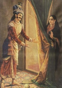 Raja_Ravi_Varma,_Keechaka_and_Sairandhri,_1890